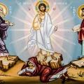 Ikon af Forklarelsen på bjerget. Jesus, Moses, Elias med Simon Peter, Jakob og Johannes.
