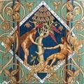 Eva rækker Adam frugten fra kundskabens træ