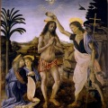 Maleri af Johannes Døberens dåb af Jesus Kristus