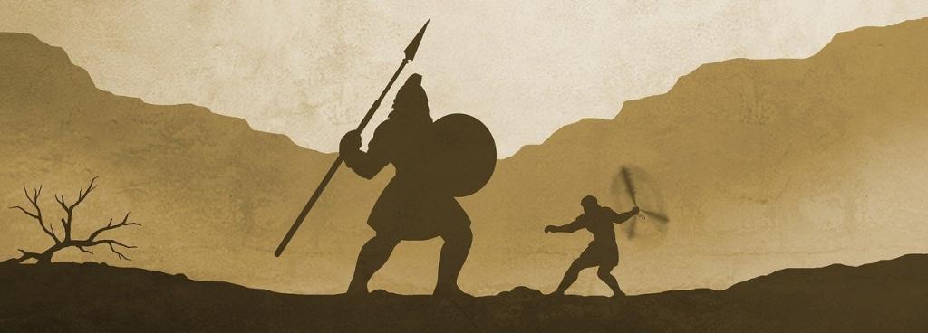 Tegning af David og Goliat
