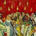 Mosaik af disciplene med ildtunger over hovederne