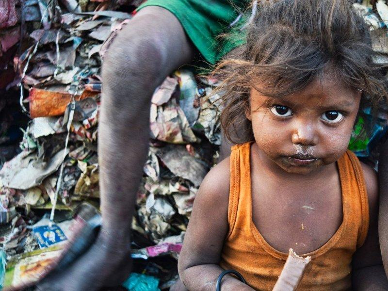 Fattige børn i Indien
